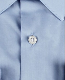 ENZO-032-6 Slim fit poplin blue shirt