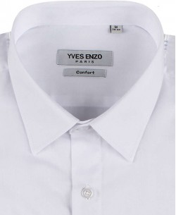 1006201-1 White poplin shirt regular fit