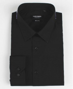 SLIM1009-10 Black shirt slim fit