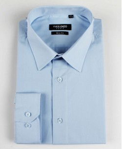 SLIM1009-78 blue shirt slim fit