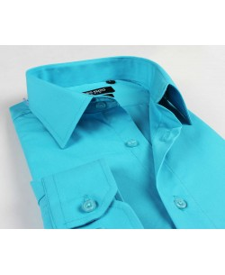 YE-205 Turquoise blue regular fit shirt