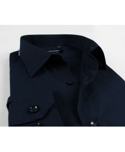 YE-274 Navy blue shirt regular fit