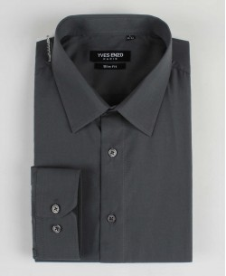 SLIM1009-19 Dark grey shirt slim fit
