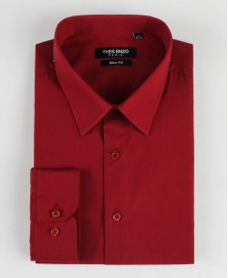 SLIM1009-73 Burgundy shirt slim fit