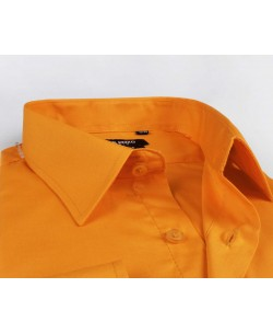 YE-206 Orange regular fit shirt
