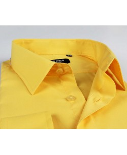 YE-214 Yellow regular fit shirt