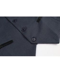 V007-4 Grey fitted waistcoat