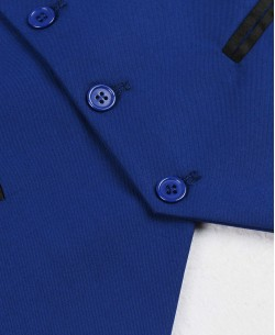 V007-5 Royal blue fitted waistcoat