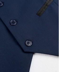 V007-1 Dark blue fitted waistcoat