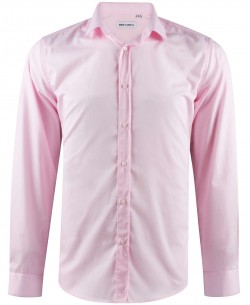 ENZO-034-4 Slim fit pink poplin shirt spread collar in cotton