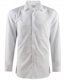 ENZO-040-1 White STRETCH shirt longline fit