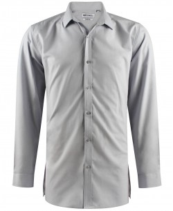 ENZO-040-3 Grey STRETCH shirt longline fit