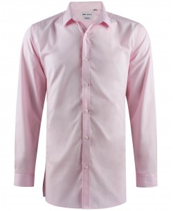 ENZO-040-4 Pink STRETCH shirt longline fit