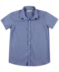 KIDS-931-2 Kids sleeveless blue shirt from 6 to 16 years