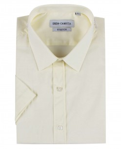 ENZO-530-15 Ivory sleeveless STRETCH shirt slim fit