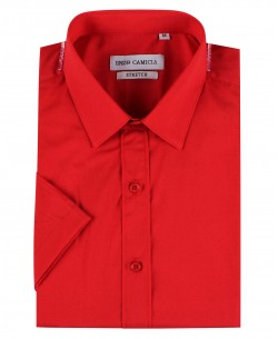 ENZO-530-22 Red sleeveless STRETCH shirt slim fit