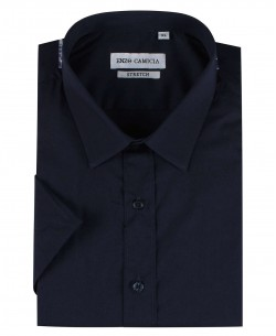 ENZO-530-74 Navy blue sleeveless STRETCH shirt slim fit