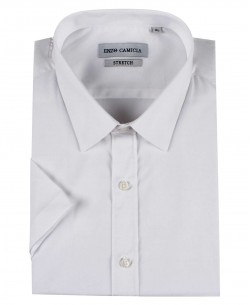 ENZO-530-9 White sleeveless STRETCH shirt slim fit