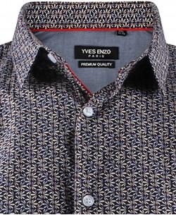 ENZO-531-17 Sleeveless STRETCH shirt COSECHA prints slim fit