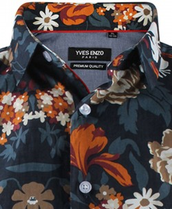 ENZO-531-3 Sleeveless STRETCH shirt ROGUE prints slim fit