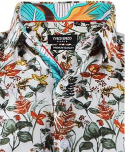 ENZO-532-20 Sleeveless STRETCH shirt TONIO prints slim fit