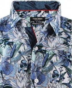 ENZO-532-9 Sleeveless STRETCH shirt REBORN prints slim fit