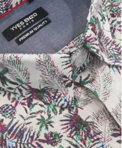 ENZO101-9 STRETCH shirt SHERAZADE prints slim fit