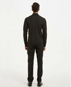 YE-6740-3 Châle neck black  jumper