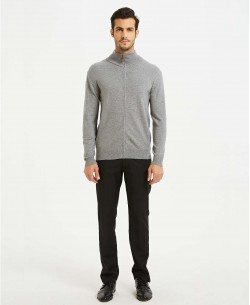 YE-6742-6 Grey knitted zip