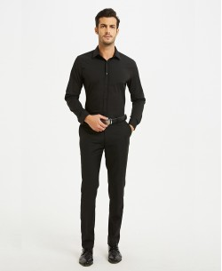 "SLIM1009-10S Black shirt slim fit ""S Size"""