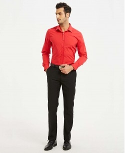 ENZO-043-22 Red stretch shirt slim fit