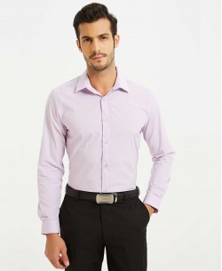 ENZO-043-24 Lilac STRETCH shirt slim fit