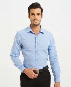 ENZO-043-2 Sky blue STRETCH shirt slim fit