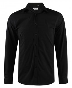 ENZO-043-10 Black stretch shirt slim fit