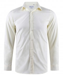 ENZO-043-15 Ivory stretch shirt slim fit