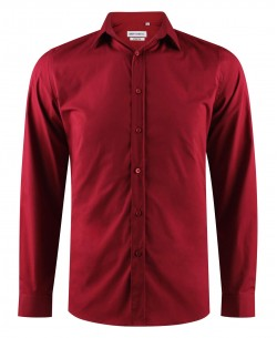 ENZO-043-73 Burgundy stretch shirt slim fit