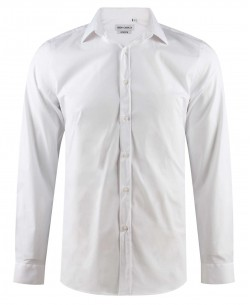 ENZO-043-9 White stretch shirt slim fit