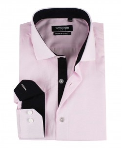 ENZO-103-2 Slim fit OXFORD ROYAL pink shirt cutaway collar in cotton