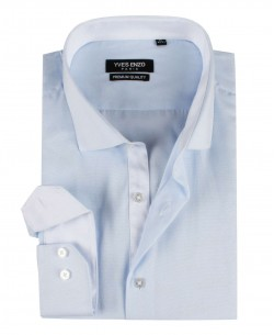 ENZO-103-3 Slim fit OXFORD ROYAL sky blue shirt cutaway collar in cotton