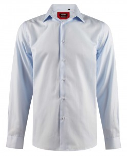 ENZO-203-3 Comfort fit sky blue OXFORD ROYAL shirt in cotton