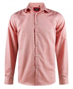 ENZO-203-5 Comfort fit salmon OXFORD ROYAL shirt in cotton