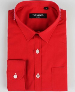 KIDS-901-22 Red kids shirts 6 to 16 years