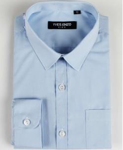 KIDS-901-78 Blue kids shirts 6 to 16 years