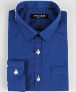 KIDS-901-08 Royal blue kids shirts 6 to 16 years