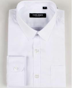 KIDS-901-09 White kids shirts 6 to 16 years