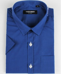 KIDS-931-8 Kids sleeveless blue royal shirt from 6 to 16 years