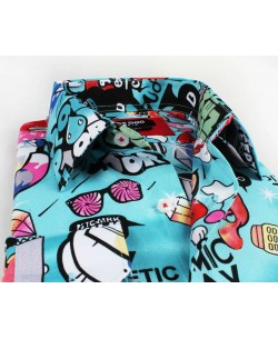 1506208-1 Shirt CARTOON prints comfort fit