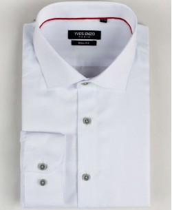 SLIM5020-1 White twill shirt slim fit