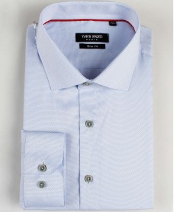 SLIM5020-2 Sky blue stitched shirt slim fit