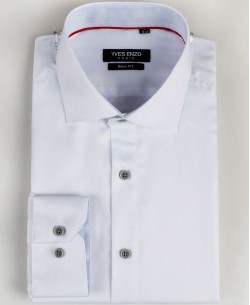 SLIM5020-4 White twill shirt slim fit